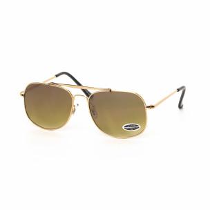 Ochelari de soare maro cu rama aurie See vision