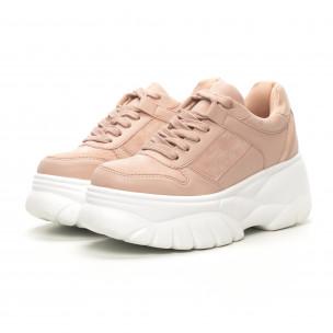 Pantofi sport roz Chunky pentru dama  2