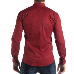 Cămașă cu mânecă lungă bărbați Baros roșie  2