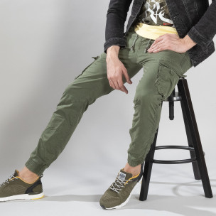 Pantaloni cargo bărbați Y-Chromosome verzi Y-Chromosome