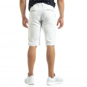 Bermude Chino albe pentru bărbați  2