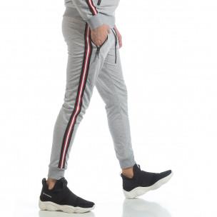 Pantaloni de trening 5 striped gri pentru bărbați