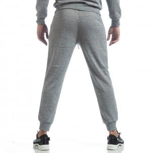 Pantaloni sport în melanj gri de bărbați  2