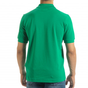 Polo shirt verde de bărbați Kappa regular fit Kappa 2