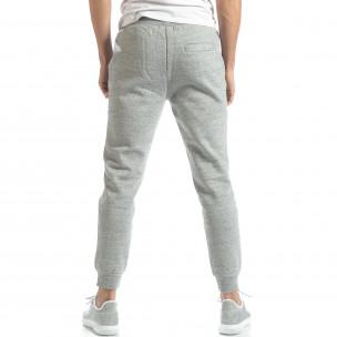 Pantaloni de trening pentru bărbați basic în melanj gri  2