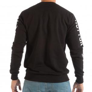 Bluză neagră matlasată pentru bărbați WHITE  2