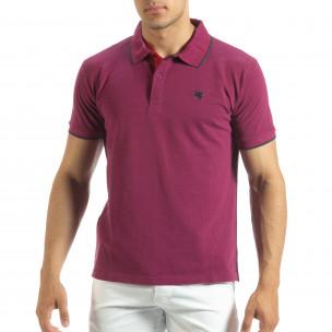 Tricou polo shirt roșu pentru bărbați Gianfranco Buroni