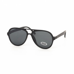 Ochelari de soare tip Aviator cu lențile negre