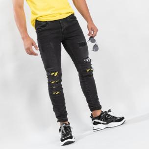Blugi slim fit negri cu accente pentru bărbați  Always Jeans