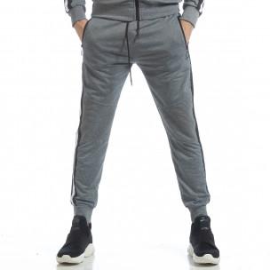 Pantaloni sport de bărbați Biker gri  2