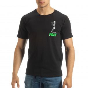 Tricou de bărbați negru Pray Trust