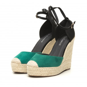 Sandale de dama verzi cu platformă înaltă 2