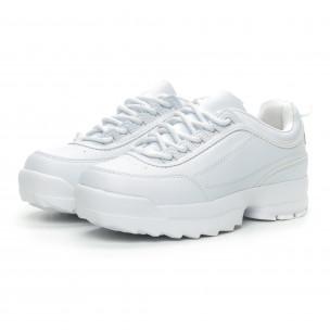 Pantofi sport albi Chunky pentru dama 2