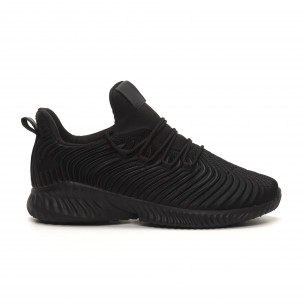 Adidași de bărbați All black ușori design Wave Bazaar Charm