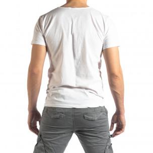 Tricou bărbați Ricky Rich alb  2