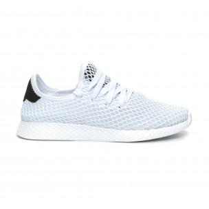 Pantofi sport albi ultra ușori Mesh pentru dama