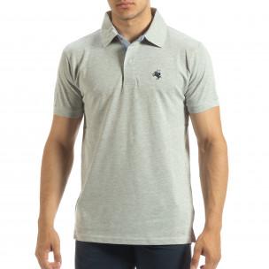 Polo shirt gri pentru bărbați Gianfranco Buroni