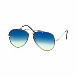 Ochelari de soare Aviator cu lențile albastre