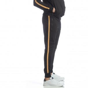 Pantaloni de trening 5 striped negri pentru bărbați