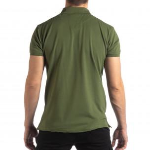 Tricou polo verde Marshall Militare pentru bărbați 2