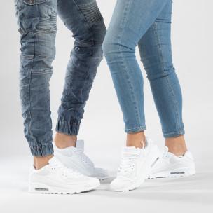 Adidași albi cu pernă de aer pentru cupluri