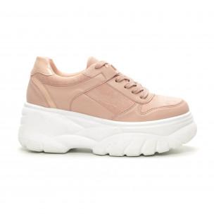 Pantofi sport roz Chunky pentru dama