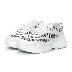 Pantofi sport de dama motiv zebră 2