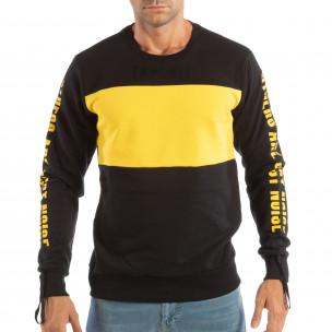 Bluză neagră din bumbac EXPLICIT pentru bărbați   2
