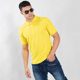 Polo shirt galben de bărbați Kappa regular fit Kappa