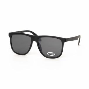 Ochelari de soare Traveler în negru tip oglindă