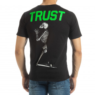 Tricou de bărbați negru Pray Trust 2