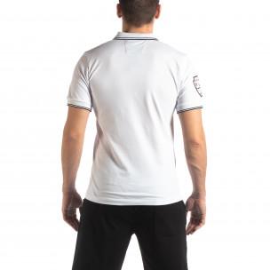Tricou alb de bărbați polo shirt Royal cup  2