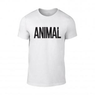 Tricou pentru barbati Animal alb