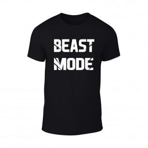 Tricou pentru barbati Beast Mode negru TEEMAN