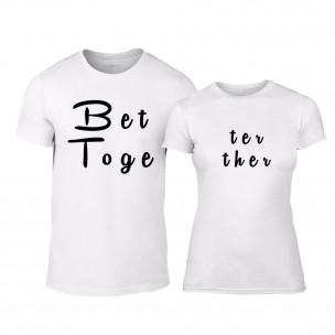 Tricouri pentru cupluri Better Together alb TEEMAN