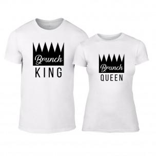 Tricouri pentru cupluri Brunch alb