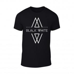 Tricou pentru barbati Black White negru