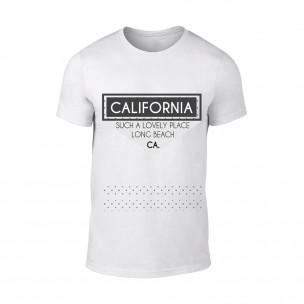 Tricou pentru barbati California alb