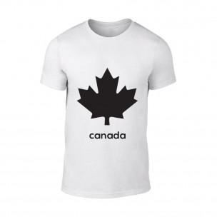 Tricou pentru barbati Canada alb