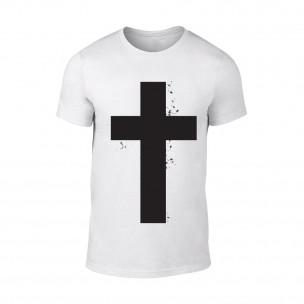Tricou pentru barbati Cross alb