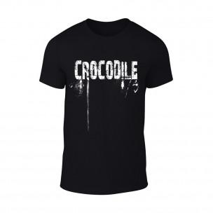 Tricou pentru barbati Crocodile negru TEEMAN
