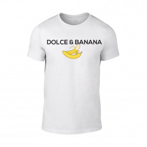 Tricou pentru barbati Dolce & Banana alb