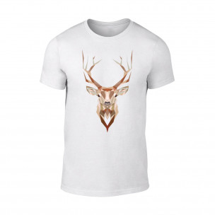 Tricou pentru barbati Deer alb TEEMAN