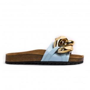 Papuci de dama Ciaodea albaștri