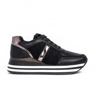Pantofi sport de dama Martin Pescatore negre