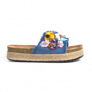 Papuci de dama Wellspring albaștri