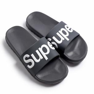 Papuci bărbați Super gri