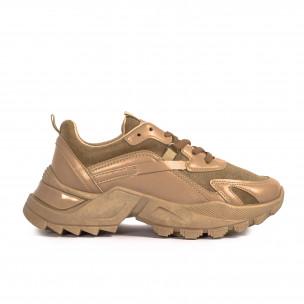 Pantofi sport de dama Fashion&Bella bej Fashion&Bella