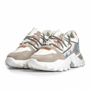 Pantofi sport de dama FM gri 2