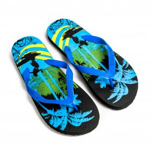 Papuci bărbați Monkey Mini albaștri